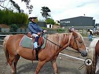 Loving every minute at Tasman Horse Rides